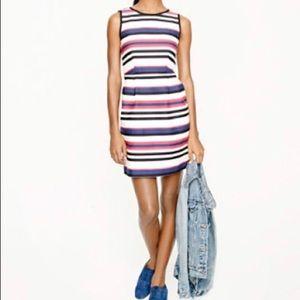 J crew cotton striped dress sz 4